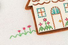 When stitching tiny projects, try embroidering a few simple details directly onto the cloth to add interest.