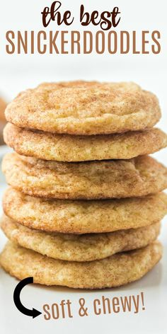 Classic Snickerdoodle Cookies that are soft and chewy and packed with cinnamon sugar flavor! You'll love this family favorite recipe that we've been enjoying for nearly 40 years! Cheesecake Desserts, Fun Desserts, Delicious Desserts, Cheesecake Strawberries, Yummy Treats, Sweet Treats, Cupcake Recipes, Cookie Recipes, Dessert Recipes
