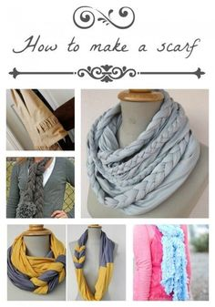 15 different tutorials showing you how to make a scarf on iheartnaptime.com ...so cute! #DIY #sewing