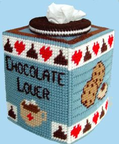 LQQK Whimsical Boutique Size Tissue Box Cover by NiftyStitches4U, $15.00