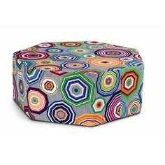 Count them: seven sided footstool from Missoni