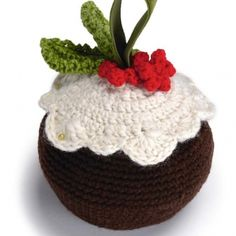 Crochet Christmas pudding! | TheMakingSpot