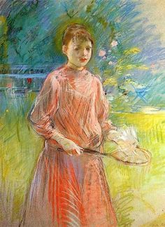 Berthe Morisot, Girl with Shuttlecock (Jeanne Bonnet) on ArtStack #berthe-morisot #art