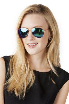 Mirrored aviator glasses - Moonbeam Sunglasses