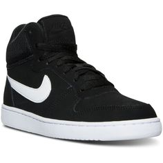 Nike Women's Recreation Mid-Top Casual Sneakers from Finish Line ($75) ❤ liked on Polyvore featuring shoes, sneakers, nike sneakers, nike, nike footwear, nike shoes and nike trainers