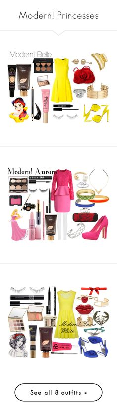 """""""Modern! Princesses"""" by alexandriaackerman ❤ liked on Polyvore featuring Versace, ALDO, France Luxe, H&M, Allurez, NYX, Clarins, Lord & Berry, NARS Cosmetics and Too Faced Cosmetics"""