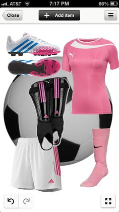 Cute but sporty soccer outfit⚽