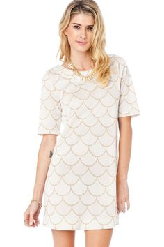 ShopSosie Style : Strina Scallop Dress