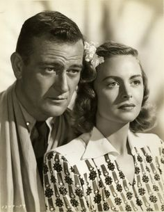 John Wayne and Donna Reed in ''Trouble Along the Way''  1953. A struggle to retain custody of his daughter, Donna Reed plays a Social Worker.