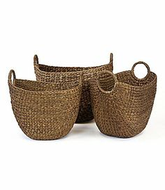 RGI Tote Baskets with Ring Oval Handles #Dillards