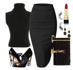 """""""Lady"""" by sheekshat on Polyvore featuring Yves Saint Laurent, Dolce&Gabbana and Argento Vivo"""