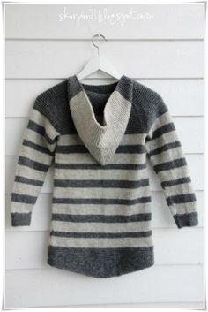 ✰ Skorpionen's hjørne: Stripet Osloanorakk ✪ Aktiv, Oslo, Barn, Stripes, Knitting, Sewing, Sweaters, Nightgown, Dressmaking