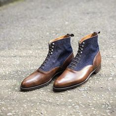 Our Denim Balmoral boot the Wedgwood available only at