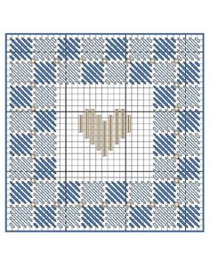 Country Hearts Basket free plastic canvas pattern of the day from freepatterns.com 8/8/13