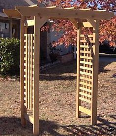 New Cedar Wood Classic Garden Arbor Pergola Arch Arbors Entry Way | EBay