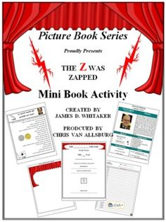 The Z Was Zapped Book Study Activity Chris Van Allsburg -- 20+ Pages and 5 Activities