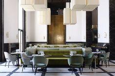 Les plus beaux restaurants deco a Paris : Monsieur Bleu par Joseph Dirand