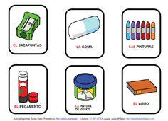 vocabulario_cole.gif Spanish Lessons, Plastic Cutting Board, Communication, Drawing, Google, Inspiration, Ideas, Communication Boards, Pencil Sharpener