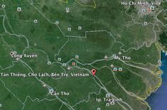 Cho Lach Vietnam Google Earth : cantine scolaire financée par Restaurants Sans Frontières