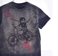 One of kind boy Tie Dye Ninja rider tee Navy by namu on Etsy, $26.00