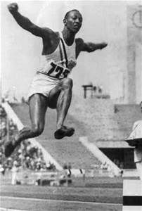 An poster sized print, approx mm) (other products available) - Jesse Owens, USA, wins the Long Jump. - Image supplied by PA Images - poster sized print mm) made in the UK 1936 Olympics, James Cleveland, Jesse Owens, Power Photos, Long Jump, Fit Board Workouts, Sports Pictures, Track And Field, Latest Video
