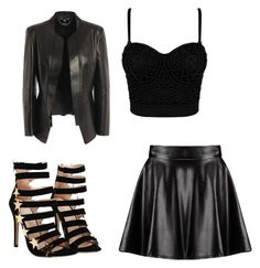 """""""black"""" by bebexx ❤ liked on Polyvore featuring Alexander McQueen and Boohoo"""