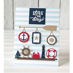 Nautical Wall Display by Jean Manis Embossed Paper, Embossed Cards, Scrapbook Albums, Diy Scrapbook, Scrapbooking Usa, Album Diy, Nautical Cards, Christmas Scrapbook, Creative Play