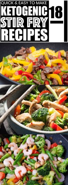 These keto stir fry recipes are the absolute BEST keto recipes! These healthy low carb stir fry keto recipes are super easy to make. My family loves these stir fry recipes and your family will too! Pinning for later.  #keto #ketorecipes #lowcarb #lowcarbrecipes #ketogenic #stirfry #stirfryrecipes