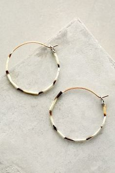 Alana Douvros Porcupine Quill Hoops #AnthroFave