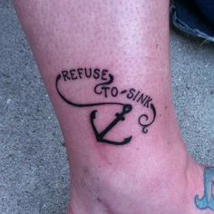 i refuse to sink tattoo on wrist - photo #19