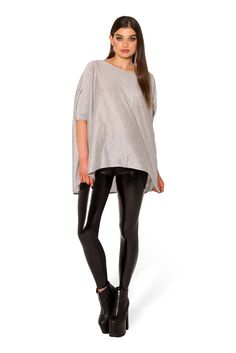 One Big Grey Top (WW $75AUD/ US $70USD) by Black Milk Clothing