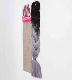 Zenci Örgüsü Saçı, Afrika Örgüsü Malzemesi,Rasta,Topuz Saçı (MISS HAIR-165 GR.)-(T2/LIGHT GREY/SİLVER GREY/ SİYAH GÜMÜŞ GRİ OMBRE)