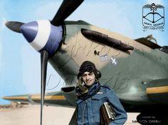 EBA - RHAF.  Hawker Hurricane Mk.I,   335th (Greek ) Sq. R.H.A.F. Squadron Leader X. Varvaressos at Αqir Palestine,  in autumn of 1941.------------------ Hawker Hurricane Mk.I  της  335ης  ΒΕΜΔ, (Βασιλική Ελληνική Μοίρα Δίωξης).  Ε.Β.Α. Ο Ξενοφών Βαρβαρέσσος,  διοικητής  της μοίρας, στο Αqir της Παλαιστίνης το φθινόπωρο  του 1941.  by Markos Danezis