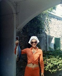 Audrey vacationing on The Island of Giglio, Tuscany, Italy, circa 1970.