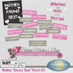Mother Knows Best Word Art by Leaving a Legacy Designs