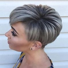 Short Hair Lengths, Short Thin Hair, Short Grey Hair, Short Hair Cuts, Short Hair Styles, Trendy Haircuts, Layered Haircuts, Shadow Root Blonde, Grey Hair Styles For Women