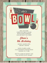 wwwfacebookcomByInvitationOnlyDesigns Bling bowling party
