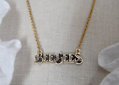 Vintage Bee Gee's Necklace ~ OMG! I had this necklace when I was a teenager, back around 1979.