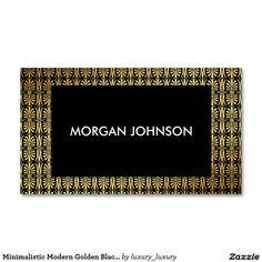 Minimalistic Modern Golden Black Vip Business Card