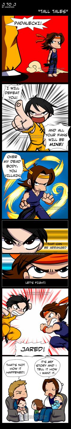 J to J: Tall Tales by KamiDiox on deviantART   The story of how Jared dislocated his shoulder by wrestling with (Master) Osric Chau