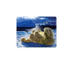 Beautiful Animal Mouse Pad Polar Bear Family