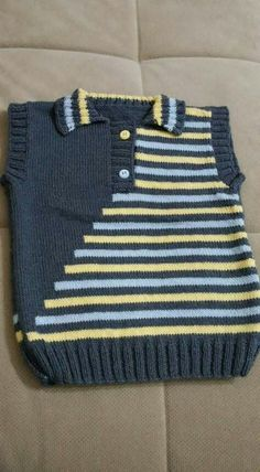 Knitting - Baby And Women Baby Boy Knitting Patterns, Baby Sweater Knitting Pattern, Knitted Baby Cardigan, Knit Baby Sweaters, Knitting For Kids, Knitting Stitches, Knitting Designs, Baby Patterns, Knit Patterns