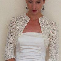 ivory angora bolero | Wedding crochet bolero shrug / Lace grey bolero shrug / Lace wedding ...