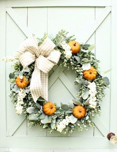 Fall Wreath ~ Pumpki