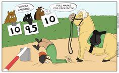 Superb Landing - Oats comic #horses