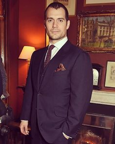 Henry Cavill looking absolutely dashing  in a navy suit at @alfreddunhill #AutumnWinter2016Collection event today. More pics on our website HenryCavill.org #henrycavill #Superman #Dunhill #sexyinasuit