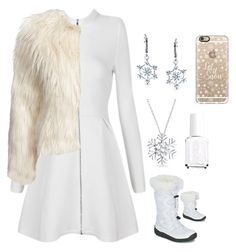 """""""Let it snow"""" by superryborg on Polyvore featuring Casetify, Bling Jewelry, Posh Girl, Glamorous, KangaROOS and Essie"""