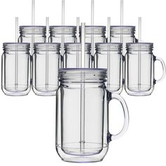 Savannah Mason Jar Acrylic Double Wall 16 Oz - Save A Cup    Check weekly for flash sales at Save A Cup where a few cups will be on a great sale!