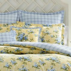 King Yellow Cassidy Comforter Set - Laura Ashley Floral Comforter, Twin Comforter Sets, King Comforter, Yellow Comforter Set, Duvet, Laura Ashley Comforter, Laura Ashley Bedroom, Laura Ashley Home, English Country Decor