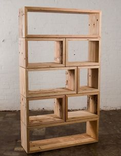 Mark Tuckey: Packing Crate Book Shelves — Melbourne